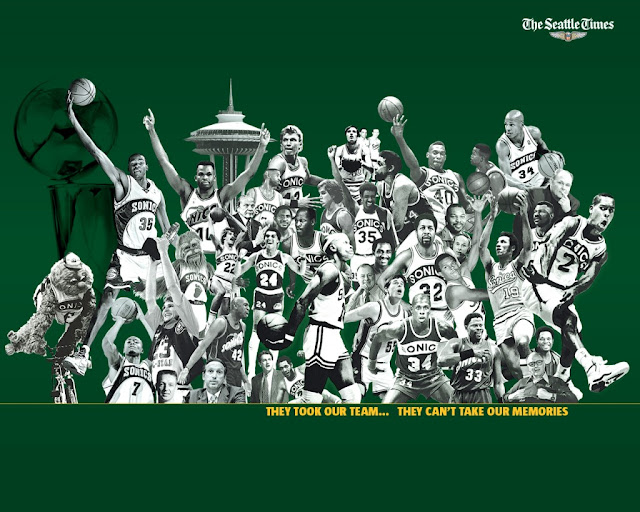 Supersonics montage, supersonics all-time greats