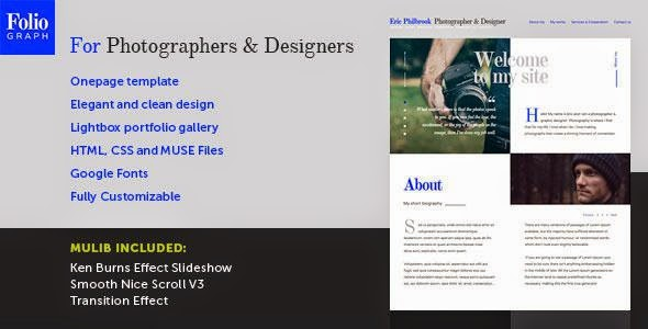 Foliograph for Photographers & Designers Muse Theme
