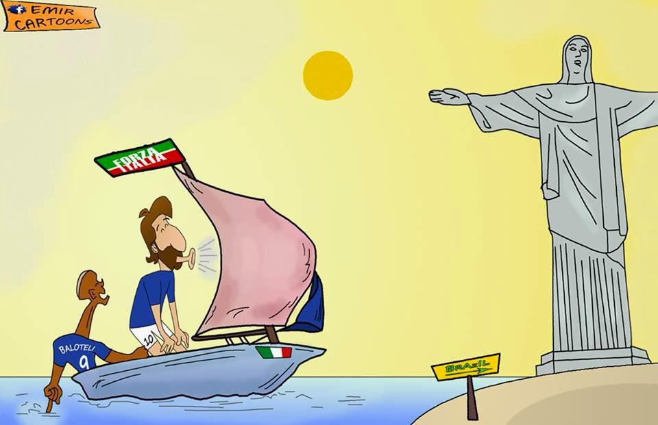 talijani,Brazil,Italija ,karikature,fudbal,nove karikature,emir balkan cartoons,emir cartoons,