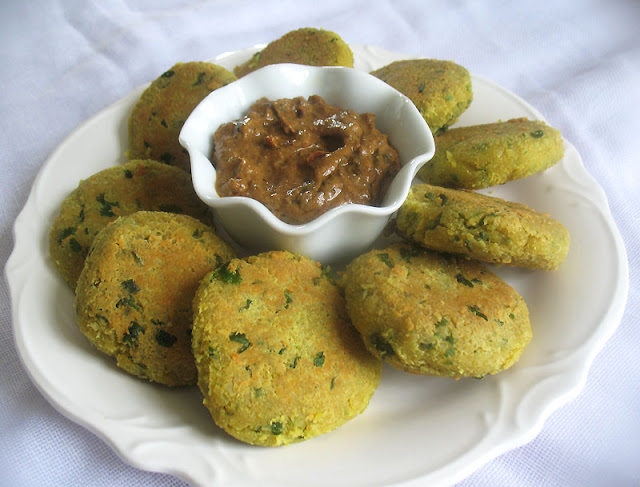 channa dal vadi with tamarind sauce