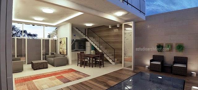 a desain rumah villa di kuta bali