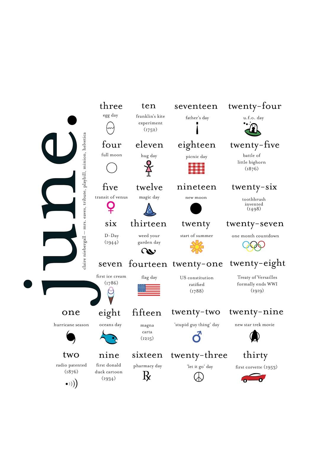 Typography Printable Calendar : Claire k niebergall typography calendar