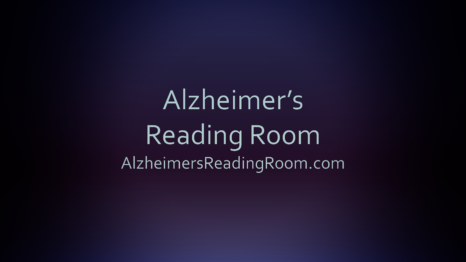 Alzheimer's Reading Room