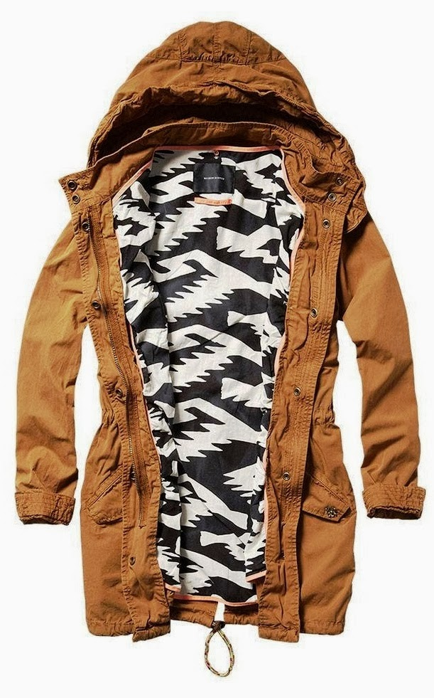 Stylish brown hood jacket