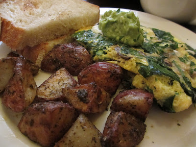 ... Pt. 2, Chicken Cilantro Sausage omelet & Spinach Goat Cheese omelet