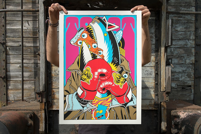 """StreetArtNews, JUSTKIDS and Bicicleta Sem Freio are proud to present """"Hammer Time"""", a brand new limited edition screen-print created in order to support the good lads from non-profit association PangeaSeed."""
