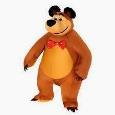 Gambar Boneka Masha and The Bear Lucu Funny Toy for Kids