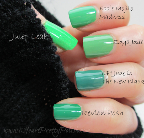 Green Nail Polish Comparison