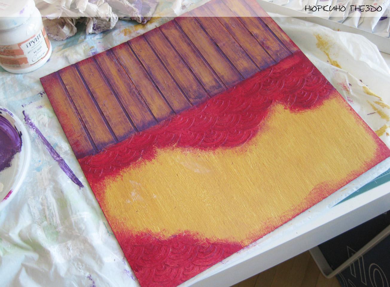 Покраска рельефа из пасты