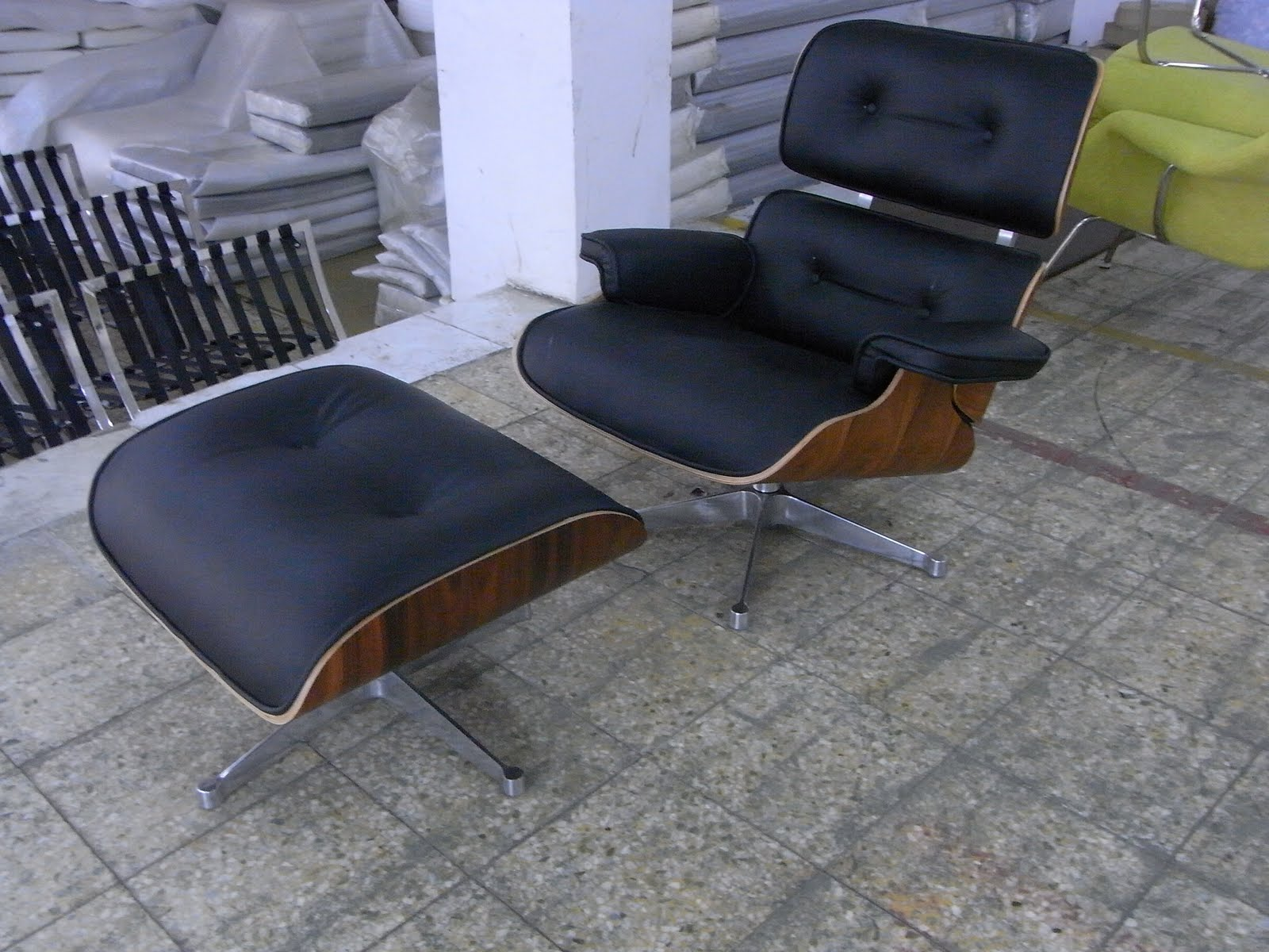 Eames Lounge Chair With Metal Finish Frame- New & The Mod Spot: Eames Lounge Chair With Metal Finish Frame- New