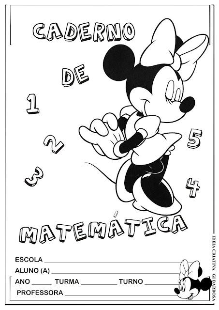 Capas para Caderno Minnie