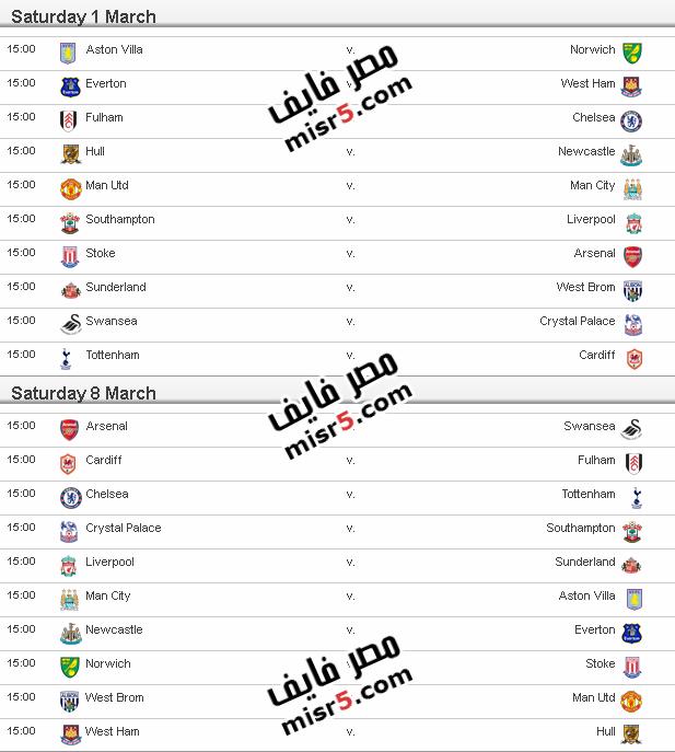 مواعيد مباريات الدوري الإنجليزي 2013 2014 الموسم الجديد