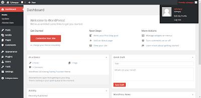 tampilan Wordpress 3.8 (terbaru)