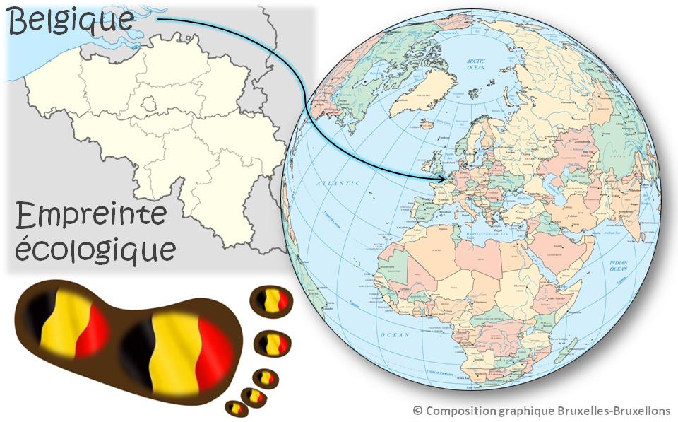 """Empreinte écologique de la Belgique - Petite taille mais grande empreinte - Rapport """"Planète vivante 2014"""" (WWF) - Bruxelles-Bruxellons"""
