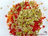 Brazo gitano salado-aceitunas picadas