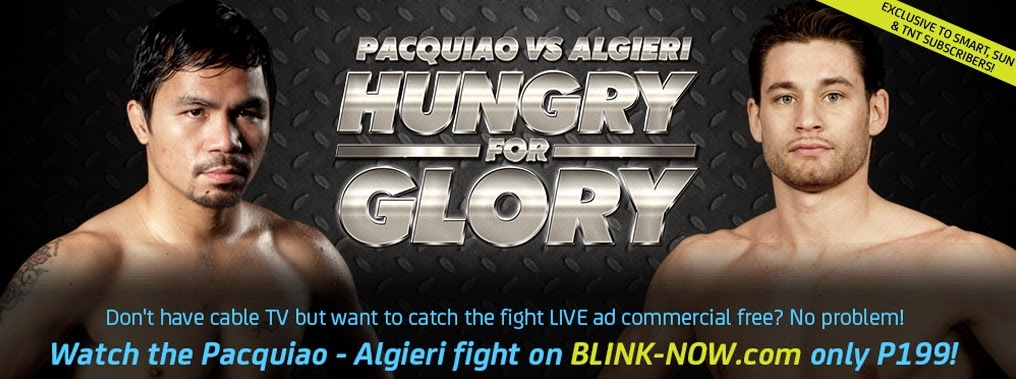 Watch Pacquiao vs. Algieri Live Stream