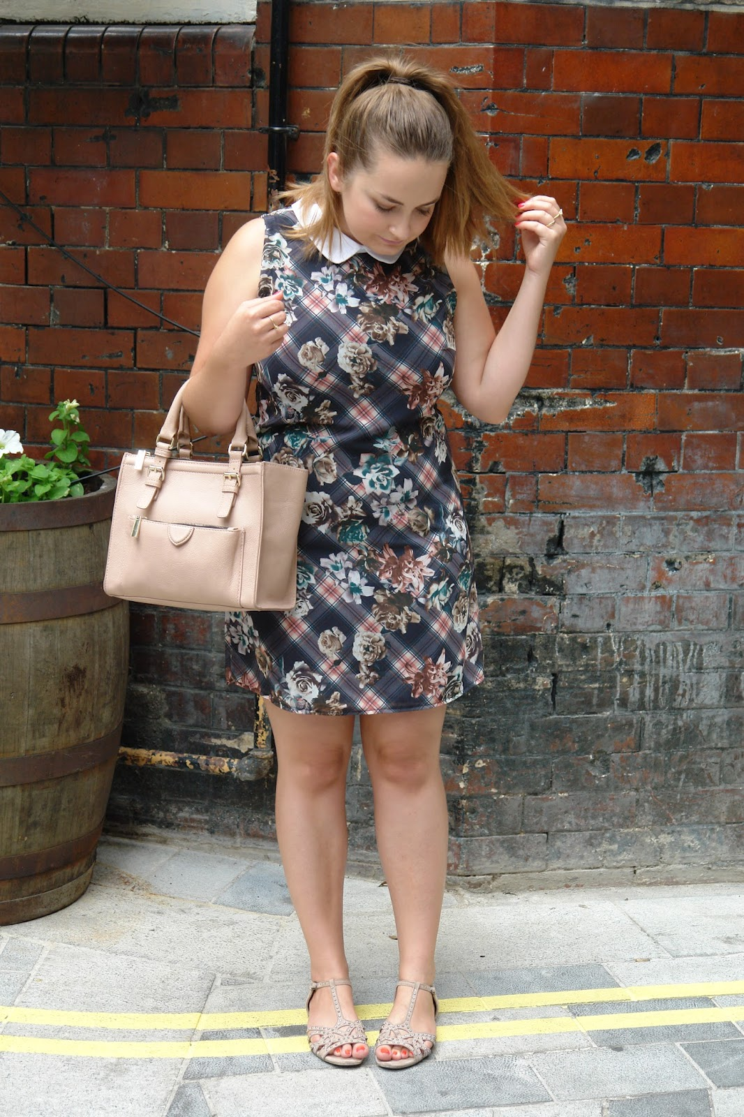 WHAT I WORE TODAY: clueless dress, dresses, WHAT I WORE TODAY, WIWT, shoes, New Look, Zara, bags, collar, ZARA Mini City Bag, outfit, OOTD, fashion blogger, UK blog