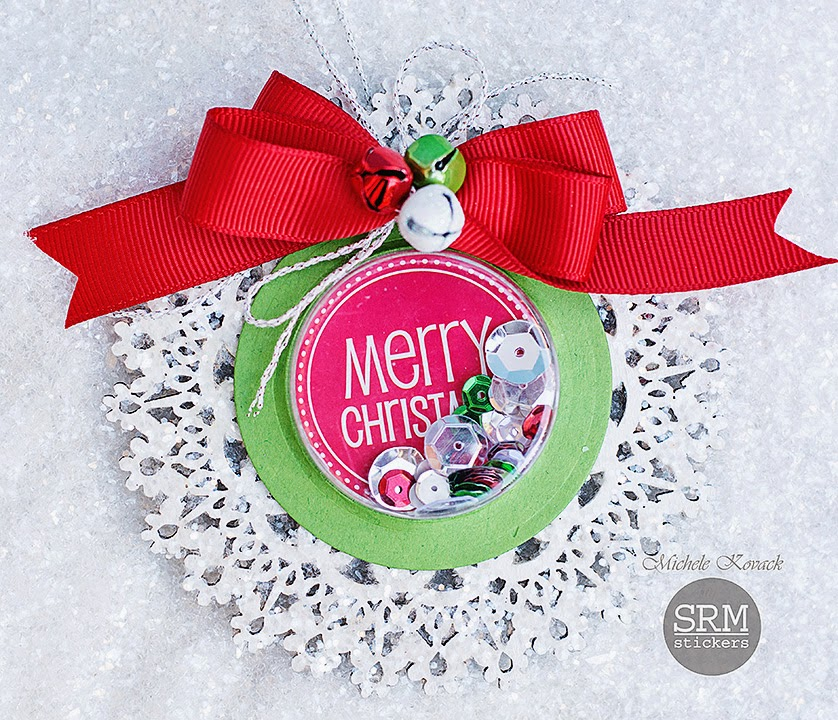 SRM Stickers - Michele Kovack - #christmas #shaker #ornament #stickers #twine