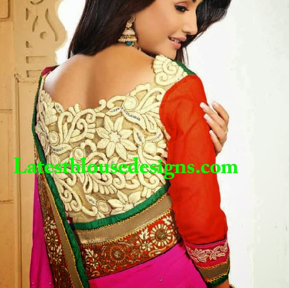 cutwork blouse designs