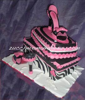 torta pasta di zucchero scarpe moda
