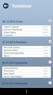Anadolu Üniversitesi Android Uygulaması Yemekhane