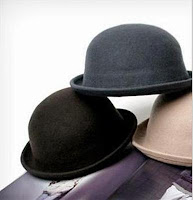 Bowler Derby Hat - 9 units Black Sold & 1 unit Wine Red Sold, 1unit Bright Red Sold
