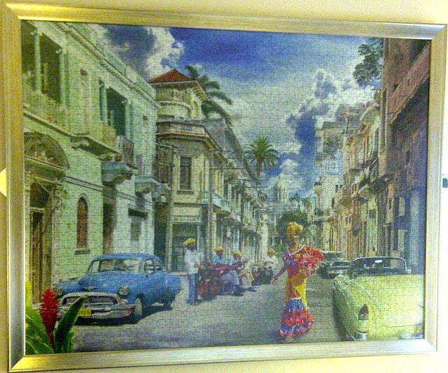 Cuban _Impressions_2000_parça_ravensburger_puzzle_çerçeve