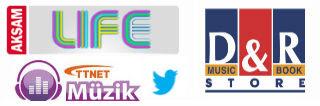 Aksam Life, D&R Stores, TTNET Muzik and Twitter Logos