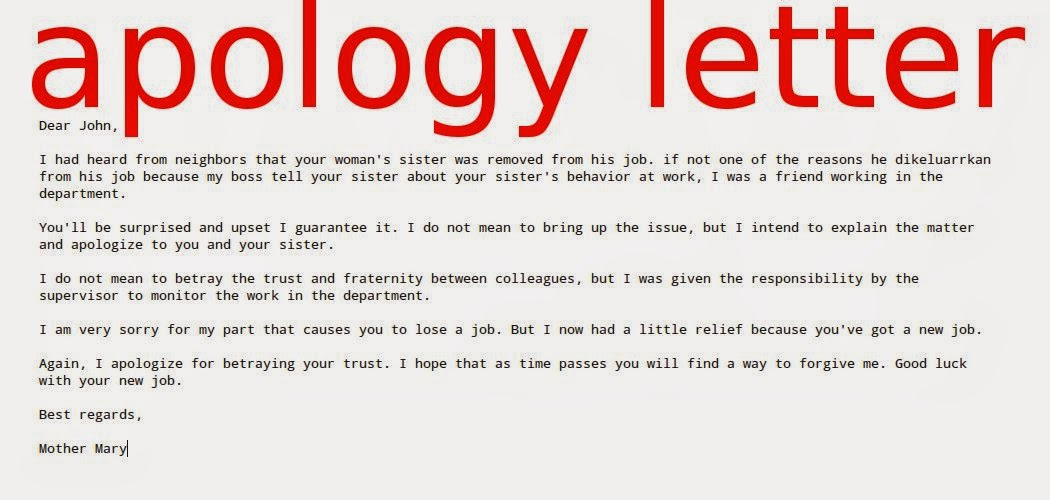 Doc7281031 Apologize Letter for Mistake Doc694951 Apologize – Apology Letter for Mistake