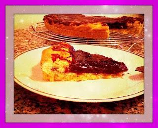 crostata con crema di marroni e cioccolato
