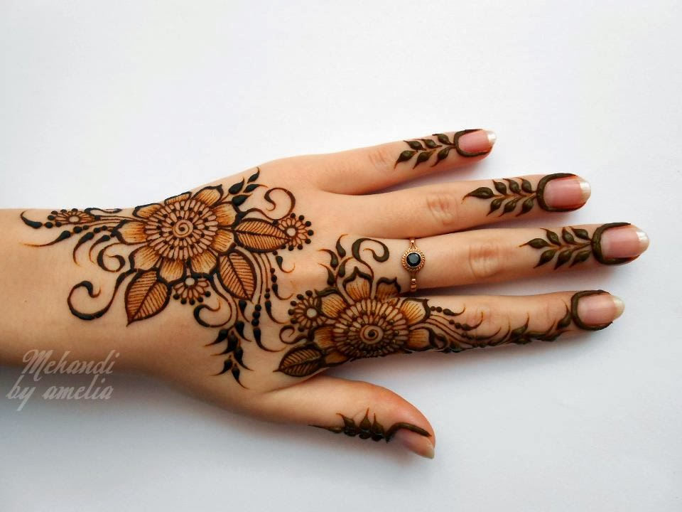 Mehndi Designs For Girls : Amelia mehndi designs for young girls