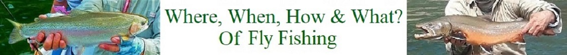 Where, When, How & What of Fly Fishing