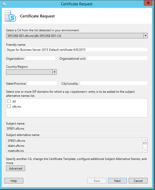 Lync me unified communications blog skype for business new this new certificate request wizard will simplify the certificate request process by putting all the next next next into the same window yelopaper Gallery