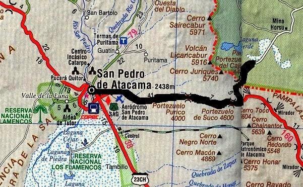 SEGUNDOS DIAS DE SAN PEDRO Y SUBIDA A HITO CAJÓN. - Blog CHILE ALASKA EN BICI