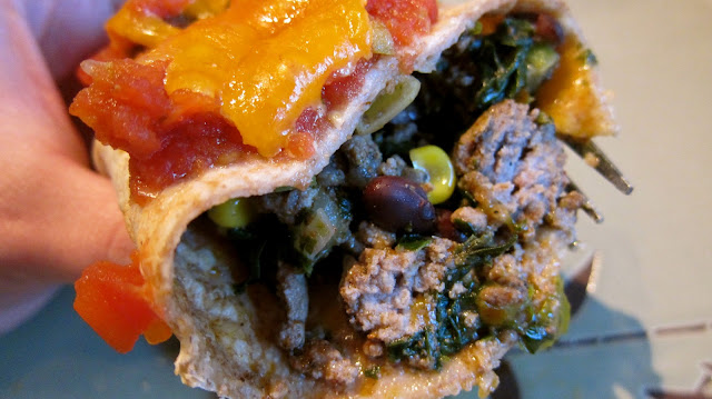 Vibrant Beef Black Bean Burritos - with Cookin' Greens