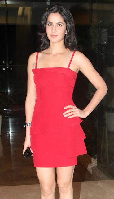 katreena kaife red dress images