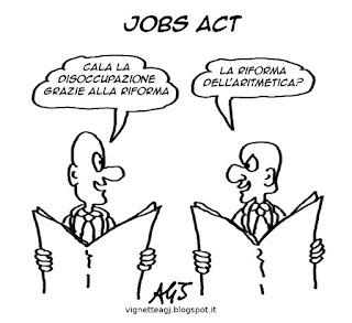 disoccupazione, jobsact, satira vignetta
