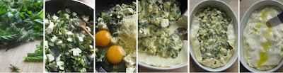 Zubereitung Schafkäse-Zucchini-Wildkräuter-Blätterteigpastete