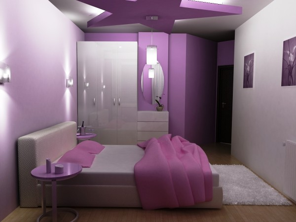 innenarchitektur design: Lila Schlafzimmer