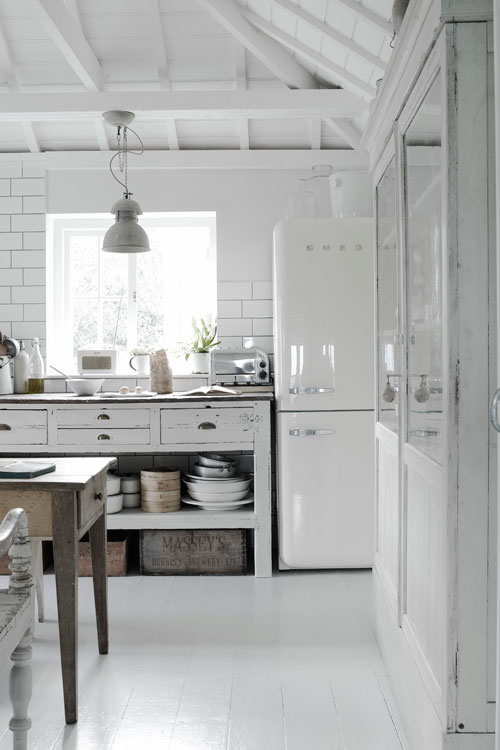 country style chic white country style kitchen