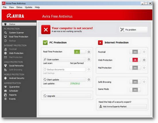 Avira Antivirus Free 2013