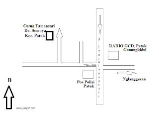 Peta Curug Tamansari Patuk