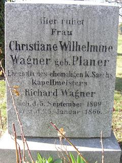 Grabstätte Wilhelmine Wagner, geb. Planer