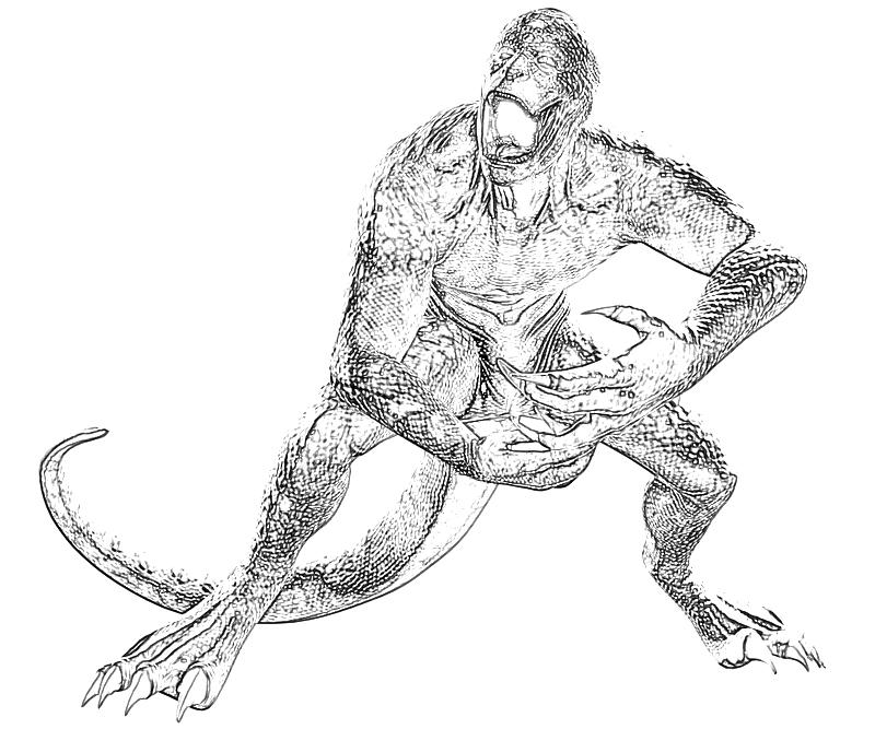 Printable The Amazing Spider-Man Lizard Character Coloring Pages title=