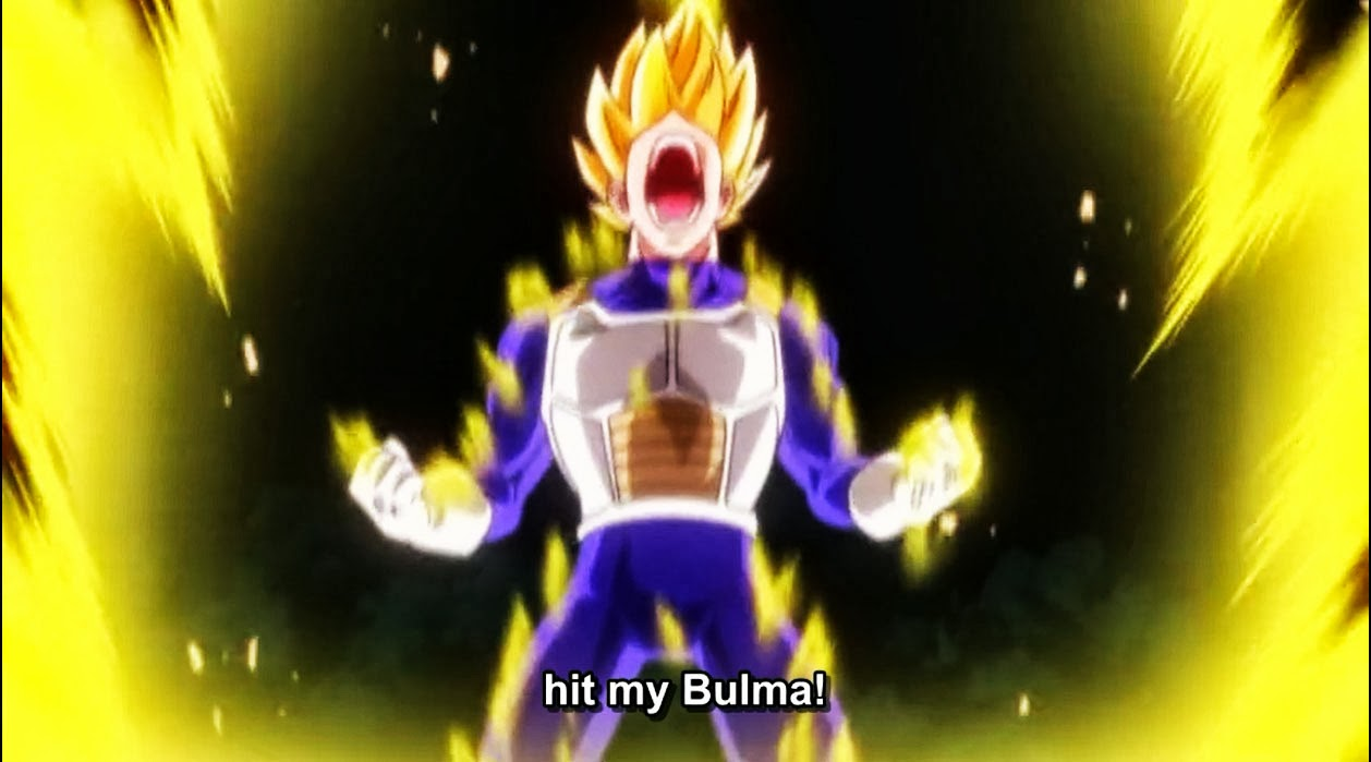Vegeta gets emotional