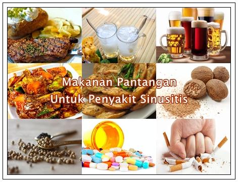 Makanan Pantangan Untuk Penyakit Sinusitis