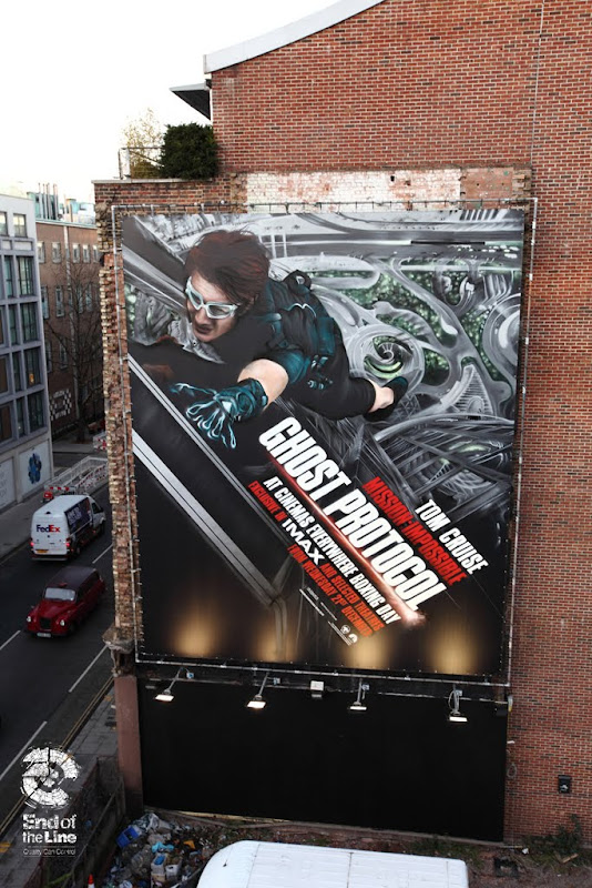Giant Mission Impossible 4 wall mural