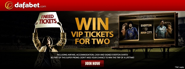You can win two VIP tickets from dafabet