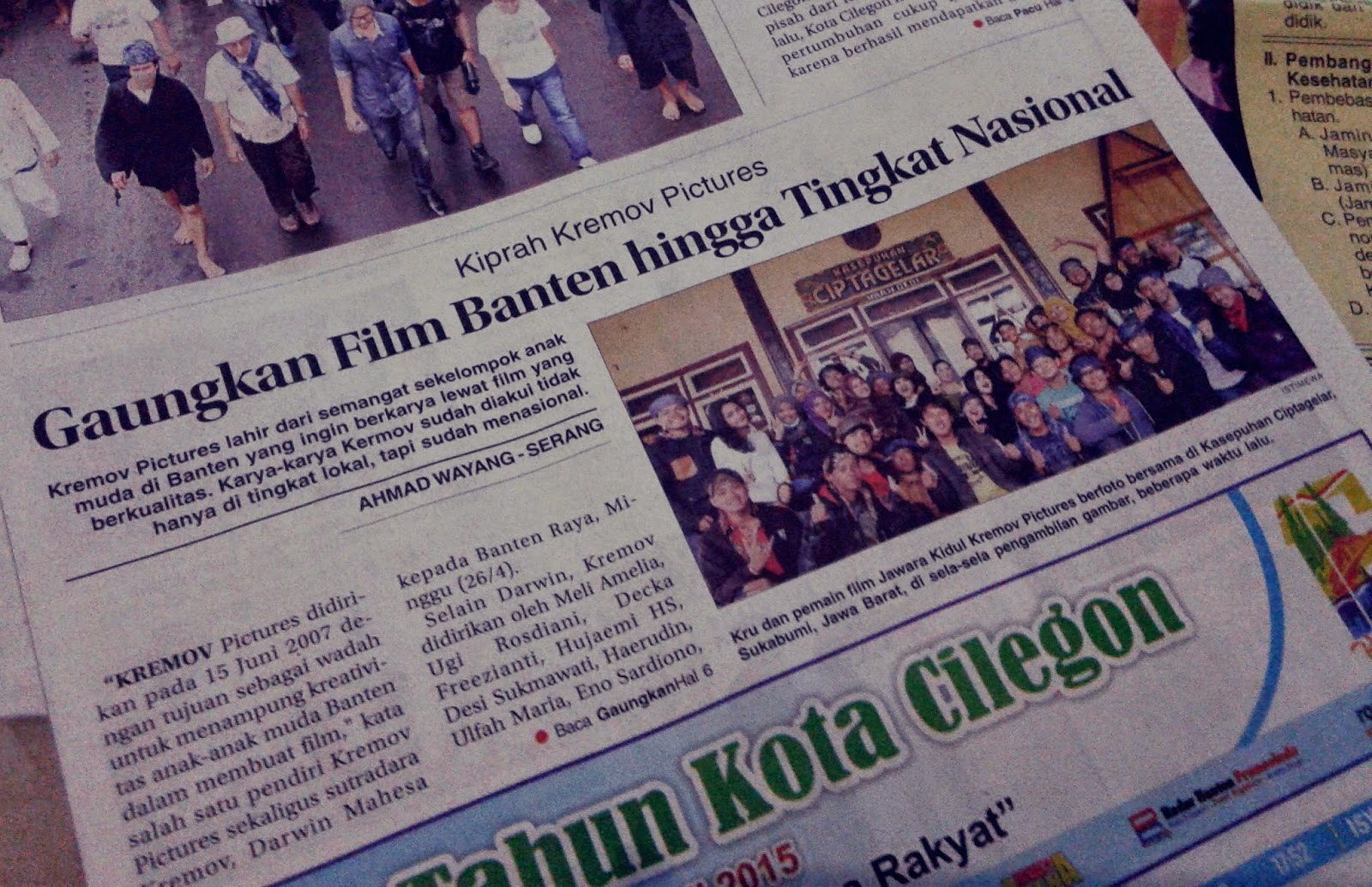 Kiprah Kremov Pictures, Gaungkan Film Banten Hingga Tingkat Nasional