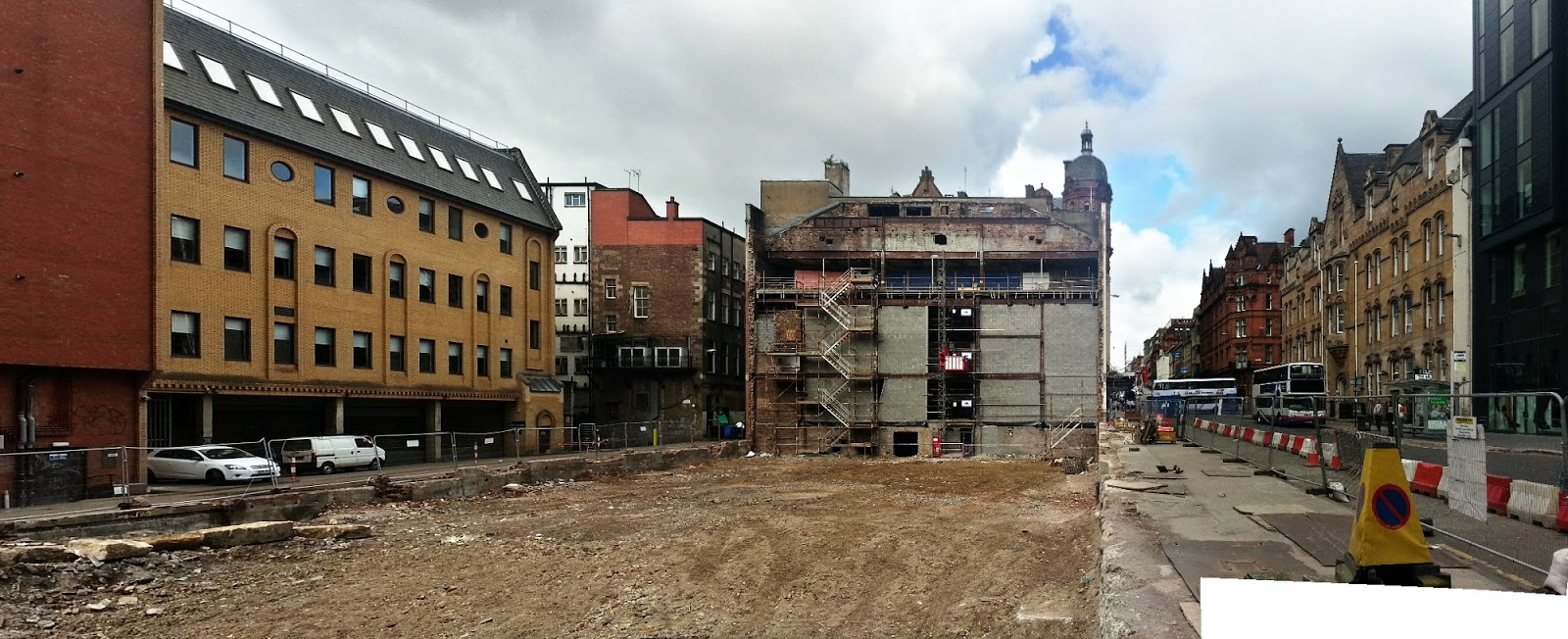 Odeon demolition complete, Glasgow